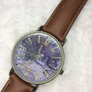 Leather Map Watch